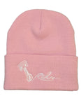 Rehv Adult Beanie Pink With White Design