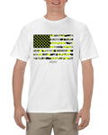Camo Flag Men's White T-Shirt