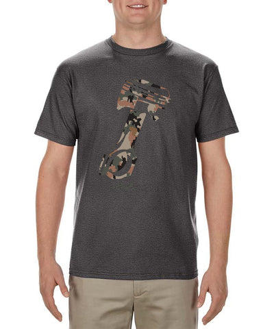 Camo Piston Men's Charcoal Heather T-Shirt