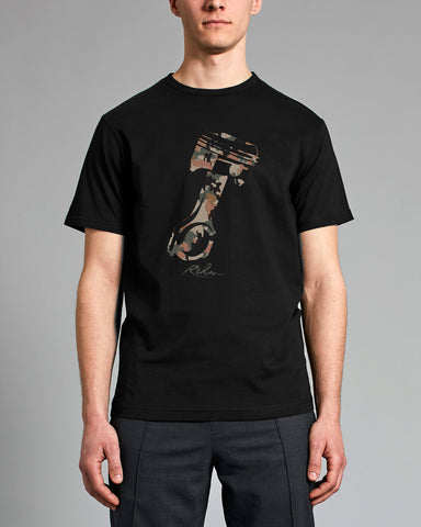 Camo Piston Men's Black T-Shirt