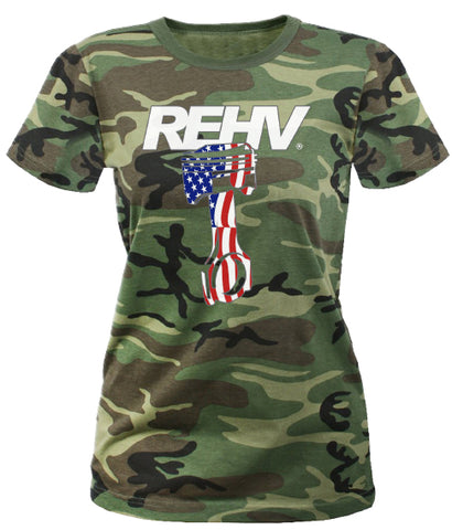 REHV PISTON WOMEN'S T-SHIRT CAMO