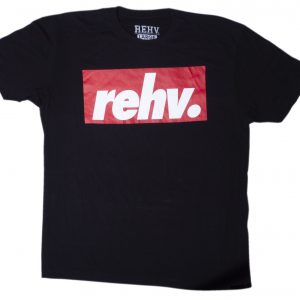 Red Block Premium Tee Black