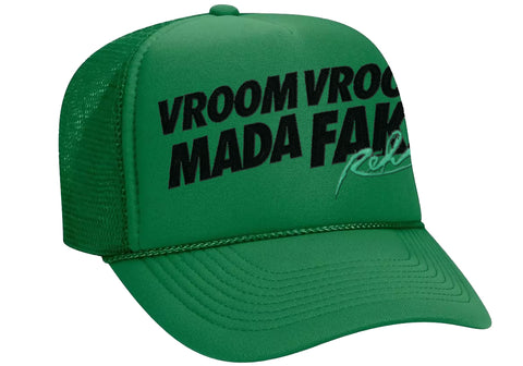 Vroom Vroom MF Green Trucker Hat