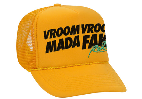 Vroom Vroom MF Orange Trucker Hat