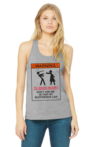 WOMEN'S WARNING TANK GREY