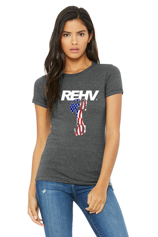 REHV PISTON WOMEN'S T-SHIRT GREY