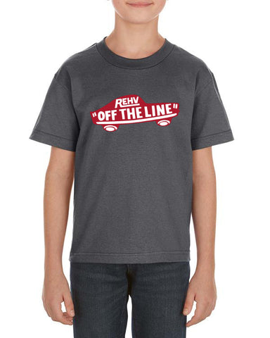 YOUTH OFF THE LINE T-SHIRT CHARCOAL GREY
