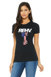 REHV PISTON WOMEN'S T-SHIRT BLACK