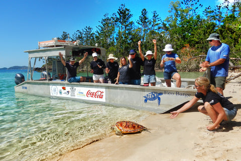 Eco Barge Clean Seas Releases Rescued Turtle