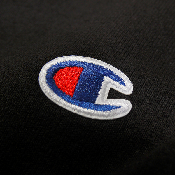 Core Logo on Black Champion Crewneck