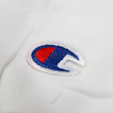 Core Logo on White Champion Crewneck