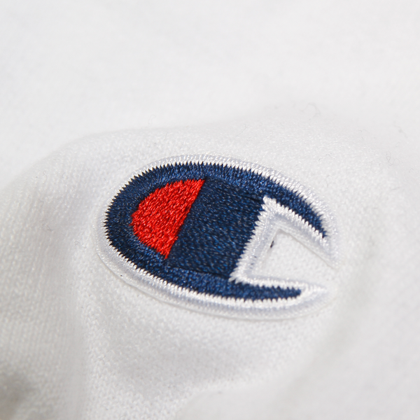 Core Logo on White Champion Pullover
