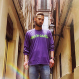 Core Longsleeve in Purple/neon green