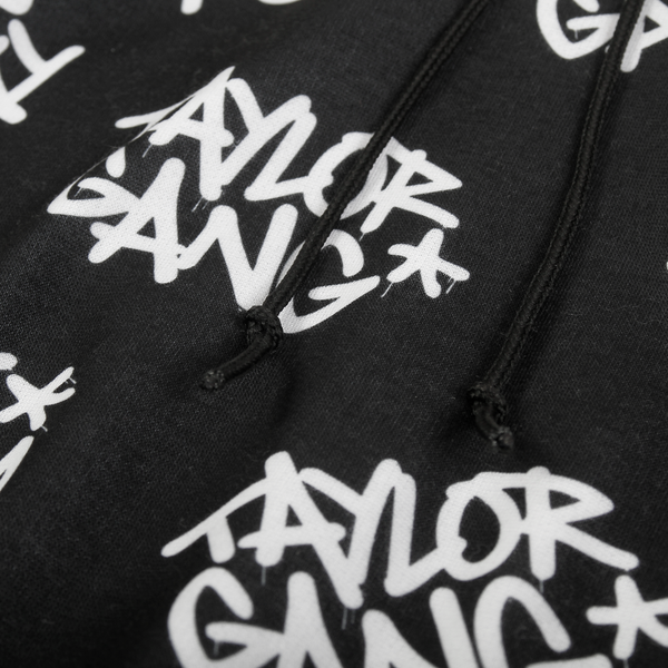 All Over Team Hoodie in Black