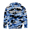 Core Hoodie in Flocked Blue Camo