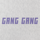Gang Gang Purple Silver Champion Pullover Sweatshirt
