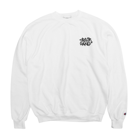 Snow Rider White Crewneck