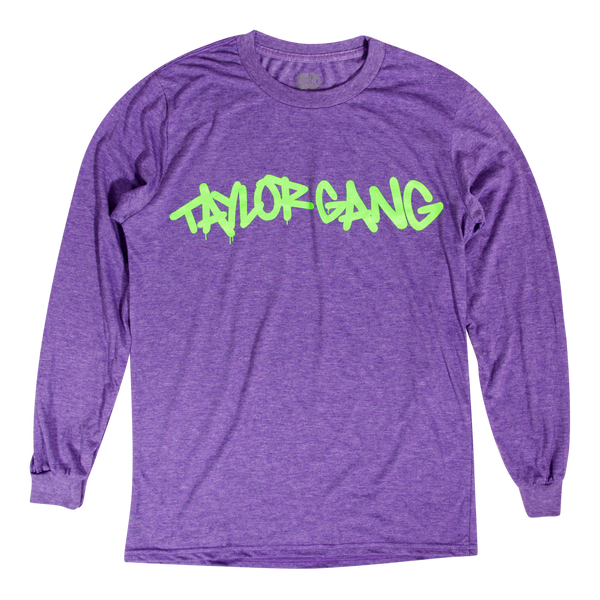 Core Logo Neon Purple Long Sleeve