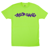 Core T-Shirt in Neon Green/purple