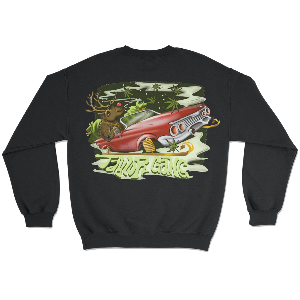 Snow Rider Black Crewneck