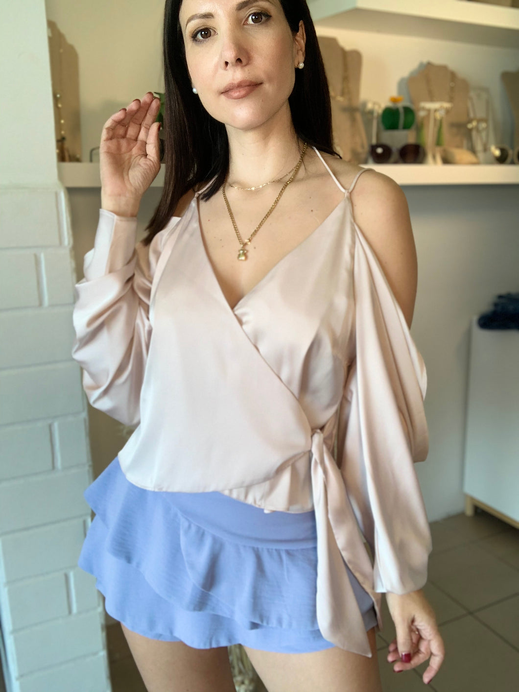 Satin Top (ecru color)