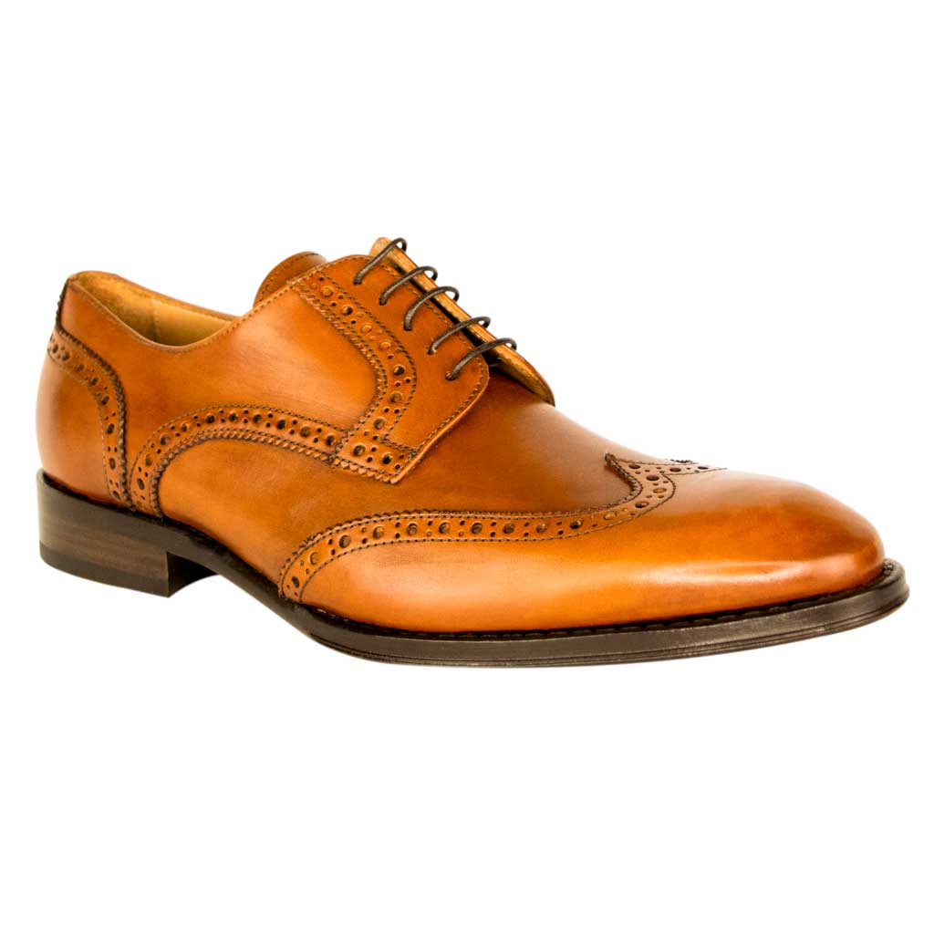 Wingtip Leather Derby Shoes Adrian