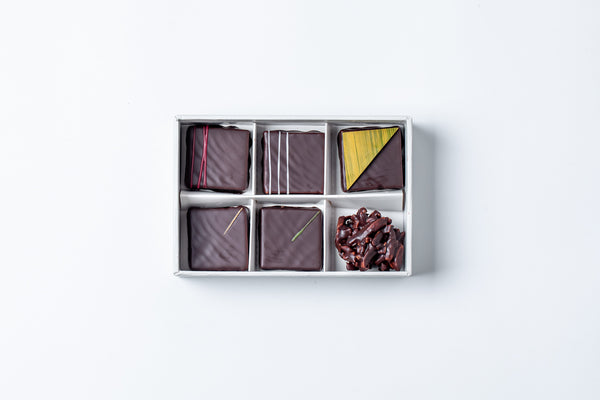 6pc Dark Chocolate Praline Box
