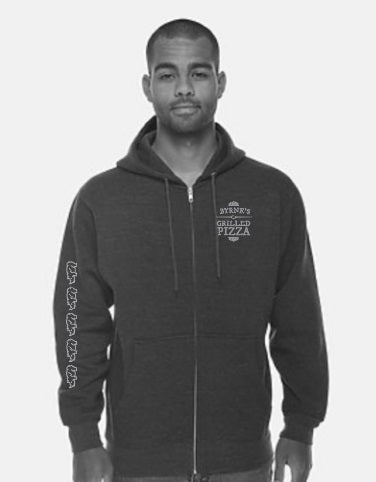 Charcoal/Heather Gray Full Zip Hoodie