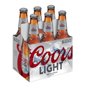 Coors Light 6 Pack, 12 oz Bottles