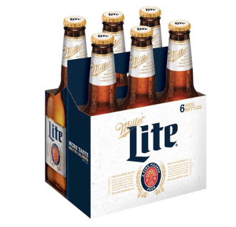 Miller Lite 6 Pack, 12 oz bottle