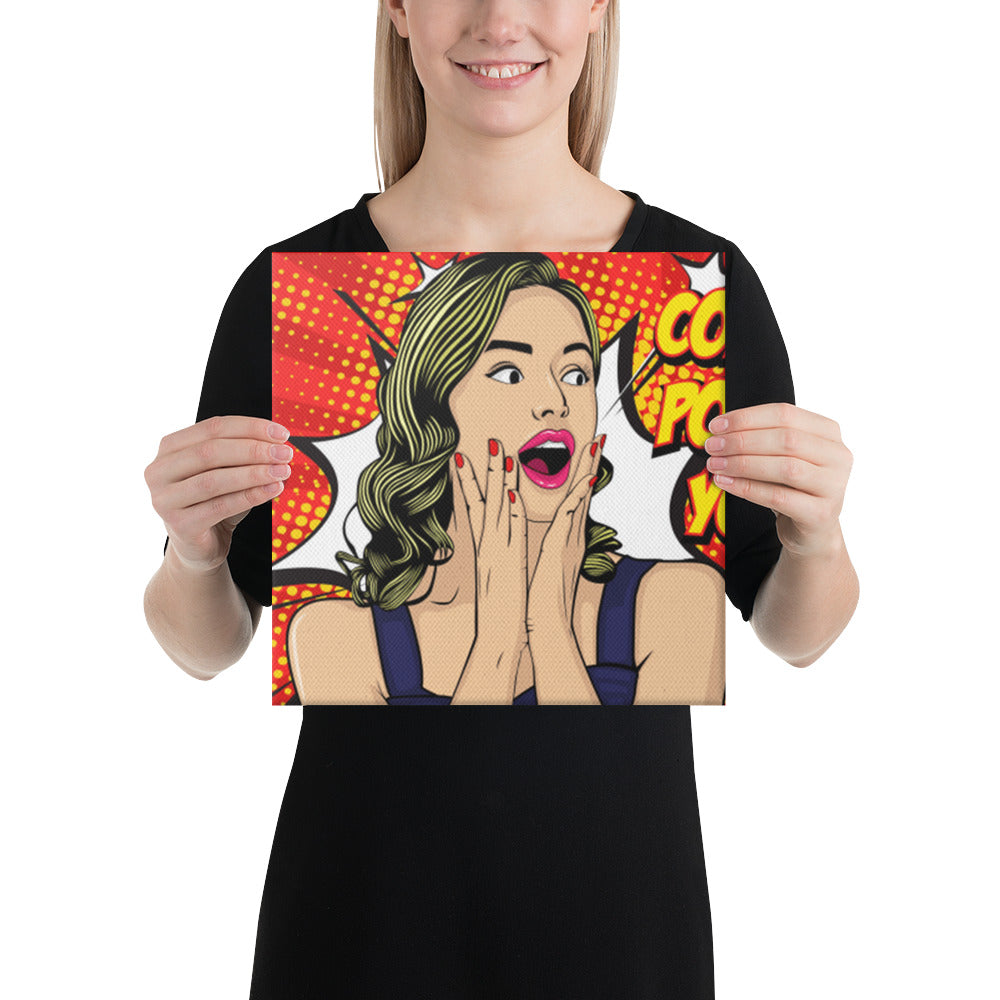 Personalized  Pop Art  Portrait Canvas - Yes Art Me