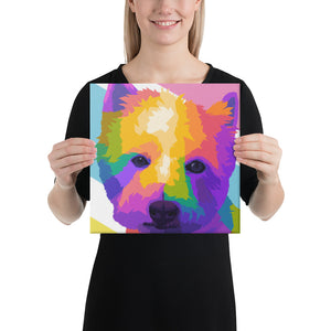 Modern Colorful Pet Portrait Canvas - Yes Art Me