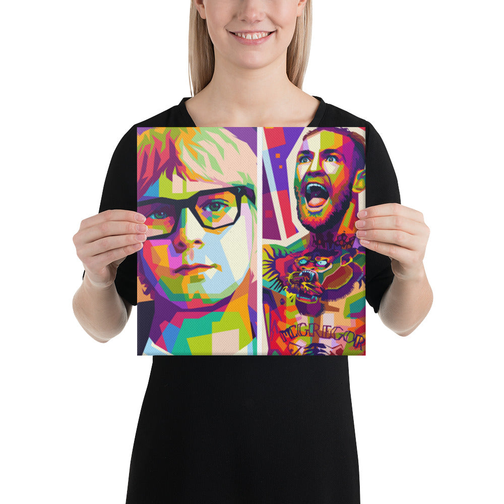Personalized Modern Colorful  Portrait Canvas - Yes Art Me