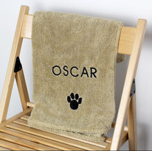 Load image into Gallery viewer, Pet Paw Brown Microfiber Towel