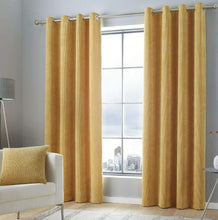 Load image into Gallery viewer, KILBRIDE SOFT CHENILLE CURTAINS available in Blush, Ochre, Charcoal