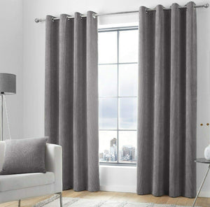 KILBRIDE SOFT CHENILLE CURTAINS available in Blush, Ochre, Charcoal