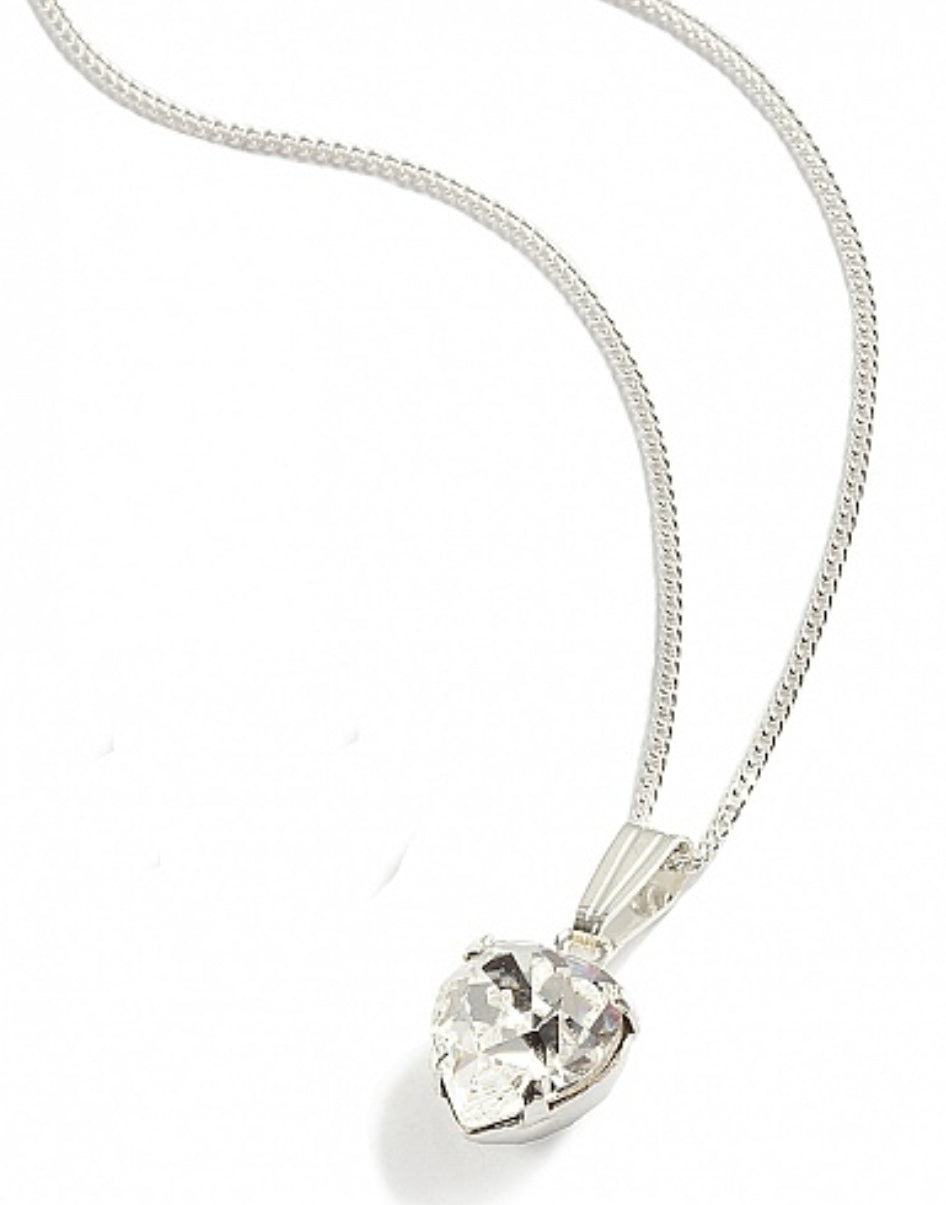 Pure Crystal Heart Pendant - In Swarovski Crystal