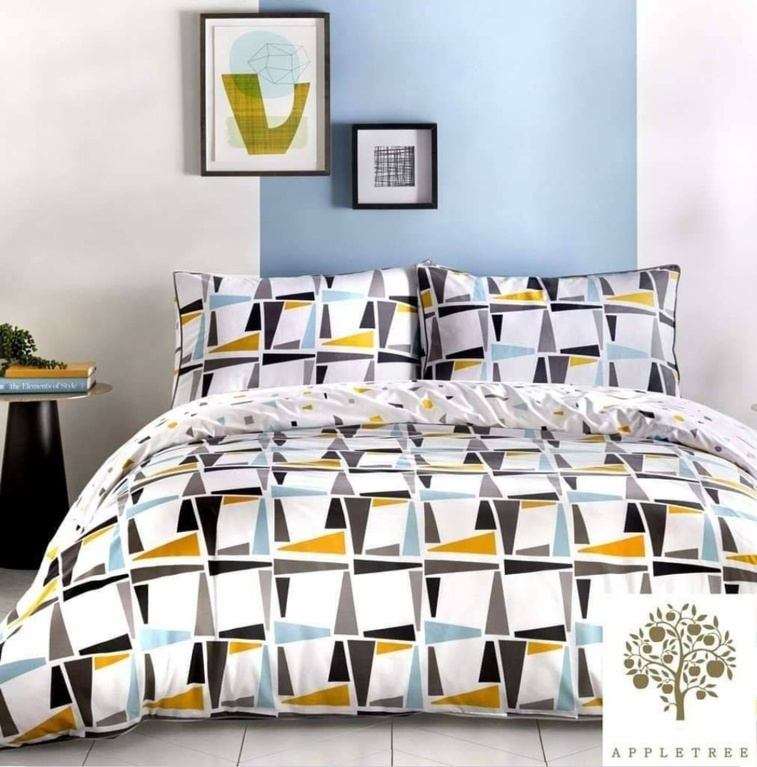 Leyton - 100% Cotton (180TC) Duvet Cover Set in Grey by Appletree
