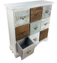 Load image into Gallery viewer, Wood Cabinet With 9 Drawers 64cm