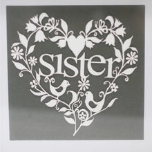 Load image into Gallery viewer, Paper Cutout White Picture Frame - Sister