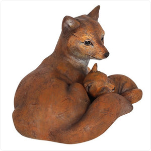 Mother and Baby Fox Ornament