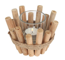 Load image into Gallery viewer, Single Driftwood Candle Holder