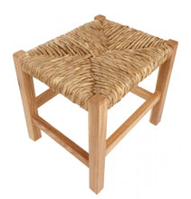 Load image into Gallery viewer, Rustic Woven Raffia Stool 30cm