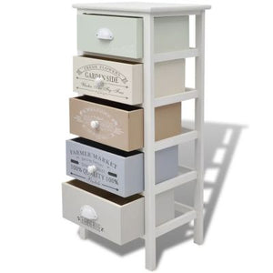 French Style Storage Cabinet - 5 Drawers