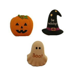 Ghost, Pumpkin & Hat Set of Three