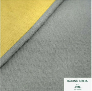 "RACING GREEN ""COLBURN"" - 100% BRUSHED COTTON DUVET COVER SET Ochre/Grey"