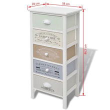 Load image into Gallery viewer, French Style Storage Cabinet - 5 Drawers