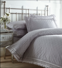 Load image into Gallery viewer, BALMORAL LUXURY LACE DESIGN DUVET SET - GREY