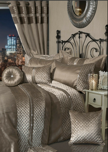 Olivia Rocco 7 Piece 'Kylie' Duvet Cover Set Comforter Bedding Complete Bedroom Set - Mink