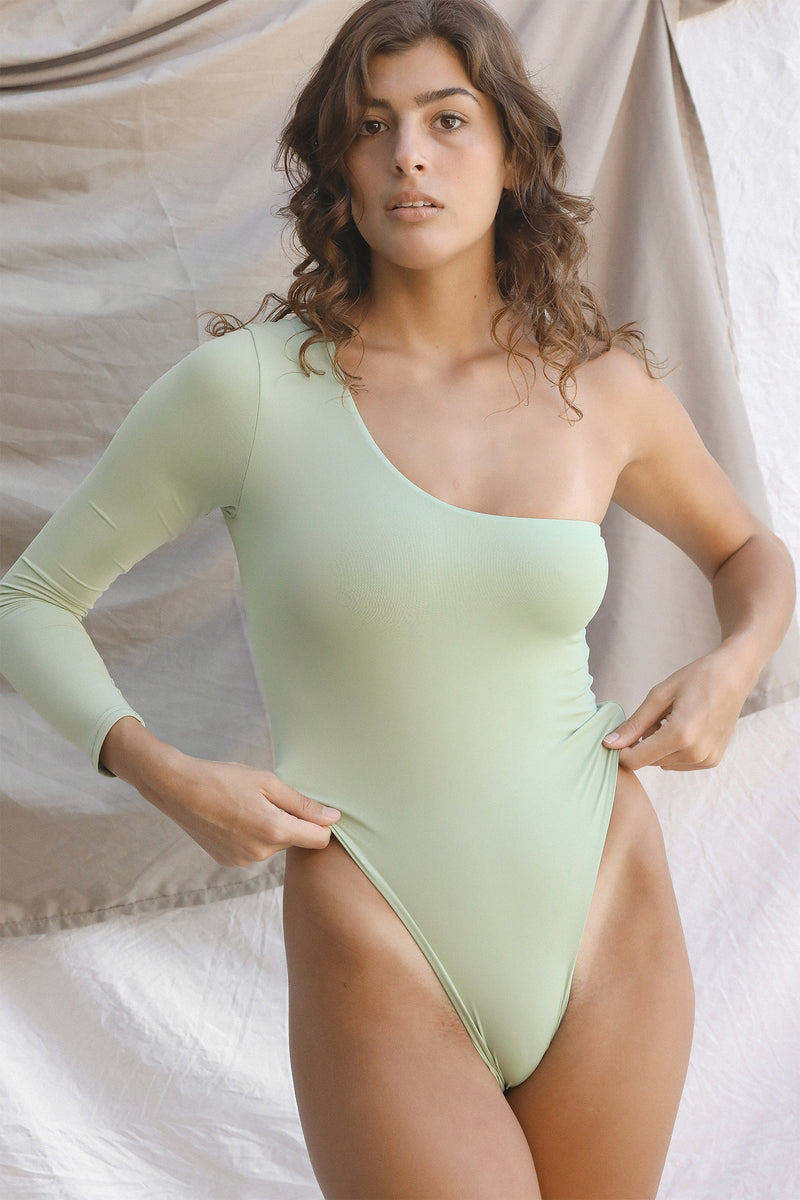 Signature One Shoulder One Piece (Desert Sage)